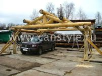 Навесы для автомобилей из дерева