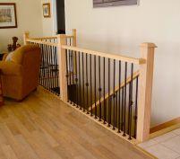 Крепление и установка деревянных лестничных перил