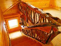 Сложной категории деревянные перила для лестниц