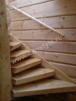 Лестницы, лестницы из бревна, изготовление и монтаж лестниц
