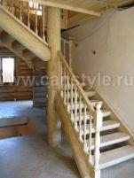лестницы из бревна фото произодство