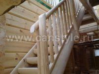 маршевая лестница из бревна