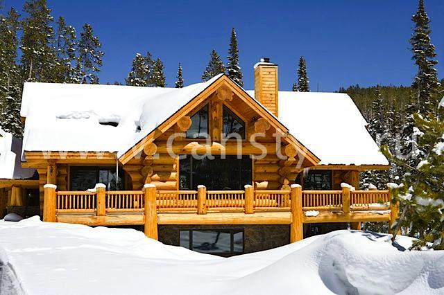 Деревянный рубленный дом идеально