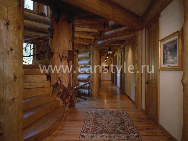 Рубленный дом интерьер фото