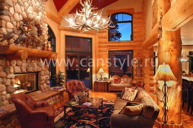 Смотреть интерьеры деревянных домов